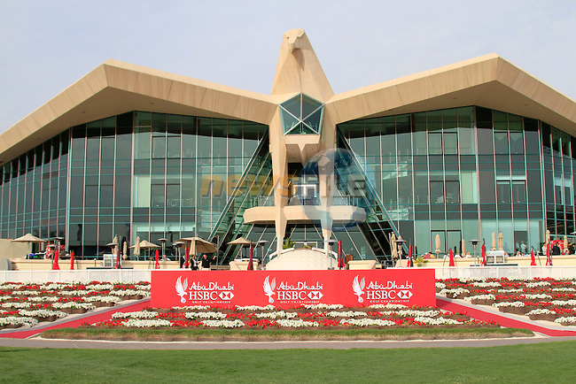 The impressive clubhouse during Thusday Day 1 of the Abu Dhabi HSBC Golf Championship, 20th January 2011..(Picture Eoin Clarke/www.golffile.ie)