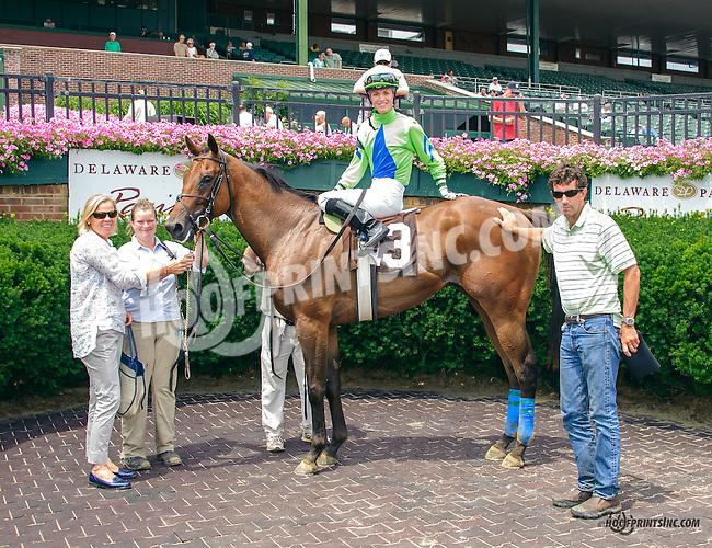 Secret Bid winning at Delaware Park on 7/13/15