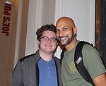 Keegan-Michael Key stars in Hamlet on August 13, 2017 and poses with Kameron Maxwell at the Public Theatre, New York City, New York. (Photo by Sue Coflin/Max Photos)