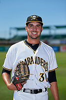 Bradenton Marauders pitcher Joe Jacques (30) poses for a photo after a Florida State League game against the St. Lucie Mets on July 28, 2019 at LECOM Park in Bradenton, Florida.  Bradenton defeated St. Lucie 7-3.  (Mike Janes/Four Seam Images)