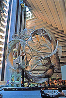 "San Francisco:  Hyatt Hotel Sculpture ""Eclipse""--a 40 ft. high geodesic sphere by Charles O. Perry. Photo '83."