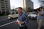 Andrew Furlong makes is way to a taxi after the sentencing of  Nicola Furlong's  killer, Richard Hinds at the Tokyo District Court  inTokyo, Japan on 19 March 2013.  Hinds was sentenced to at least 5 years and no more than 10 years in prison with labor  Photographer: Robert Gilhooly