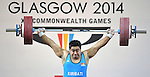30/07/2014 - Weightlifting - Commonwealth Games Glasgow 2014 - SECC Armadilo - Glasgow - UK