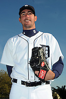 Feb 21, 2009; Lakeland, FL, USA; The Detroit Tigers pitcher Justin Verlander (35) during photoday at Tigertown. Mandatory Credit: Tomasso De Rosa/ Four Seam Images