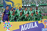 MEDELLÍN-COLOMBIA, 25-08-2019: Jugadores de Atlético Nacional, posan para una foto, antes partido de la fecha 8 entre Atlético Nacional y Deportivo Independiente Medellín, por la Liga Águila II 2019, jugado en el estadio Atanasio Girardot de la ciudad de Medellín. / Players of Atletico Nacional pose for a photo, prior a match of the 8th date between Atletico Nacional and Deportivo Independiente Medellin, for the Aguila Leguaje II 2019 played at the Atanasio Girardot Stadium in Medellin city. / Photo: VizzorImage / León Monsalve / Cont.