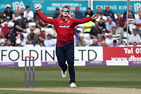 Simon Harmer in bowling action for Essex during Essex Eagles vs Yorkshire Vikings, Royal London One-Day Cup Play-Off Cricket at The Cloudfm County Ground on 14th June 2018