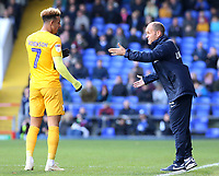 Preston North End manager Alex Neil gives instructions to Callum Robinson<br /> <br /> Photographer David Shipman/CameraSport<br /> <br /> The EFL Sky Bet Championship - Ipswich Town v Preston North End - Saturday 3rd November 2018 - Portman Road - Ipswich<br /> <br /> World Copyright &copy; 2018 CameraSport. All rights reserved. 43 Linden Ave. Countesthorpe. Leicester. England. LE8 5PG - Tel: +44 (0) 116 277 4147 - admin@camerasport.com - www.camerasport.com