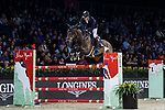 Vincent Bartin of France riding Caramba du Ruisseau Z competes in the Masters One DBS during the Longines Masters of Hong Kong at AsiaWorld-Expo on 11 February 2018, in Hong Kong, Hong Kong. Photo by Diego Gonzalez / Power Sport Images