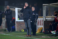 Norwich United manager Steve Eastaugh during Romford vs Norwich United, Bostik League Division 1 North Football at Ship Lane on 11th April 2018
