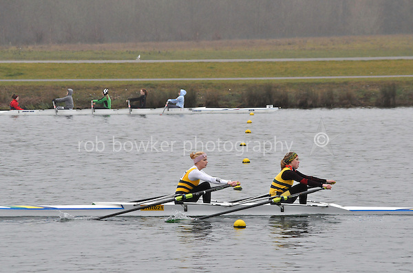 107 Christchurch RC W.IM3.2x..Marlow Regatta Committee Thames Valley Trial Head. 1900m at Dorney Lake/Eton College Rowing Centre, Dorney, Buckinghamshire. Sunday 29 January 2012. Run over three divisions.