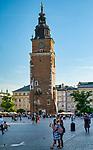 Kraków 2019-09-11. Wieza ratuszowa w Krakowie