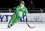 Stockholm 2014-12-19 Bandy Elitserien Hammarby IF - Broberg S&ouml;derhamn :  <br /> Hammarbys Robin Sundin i aktion under matchen mellan Hammarby IF och Broberg S&ouml;derhamn <br /> (Foto: Kenta J&ouml;nsson) Nyckelord:  Elitserien Bandy Zinkensdamms IP Zinkensdamm Zinken Hammarby Bajen HIF Broberg S&ouml;derhamn portr&auml;tt portrait