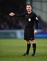 Referee Ross Joyce<br /> <br /> Photographer Chris Vaughan/CameraSport<br /> <br /> The EFL Sky Bet League Two - Lincoln City v Notts County - Saturday 13th January 2018 - Sincil Bank - Lincoln<br /> <br /> World Copyright &copy; 2018 CameraSport. All rights reserved. 43 Linden Ave. Countesthorpe. Leicester. England. LE8 5PG - Tel: +44 (0) 116 277 4147 - admin@camerasport.com - www.camerasport.com