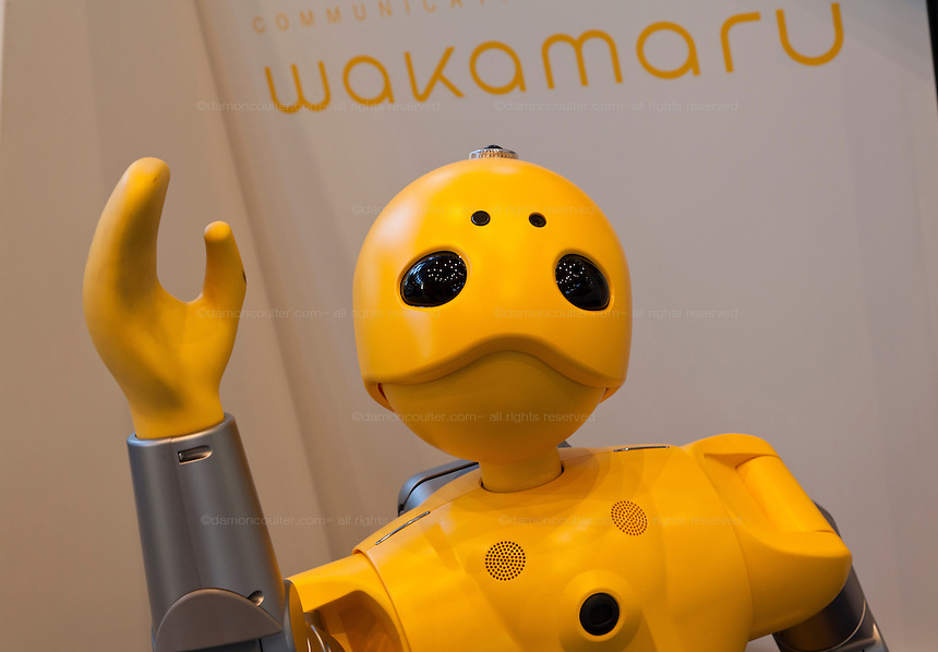 Wakamaru communications robot at the Mitsubishi Minatomirai Industrial Museum, Sakuraguicho, Yokohama, Japan. Saturday. December 28th 2013
