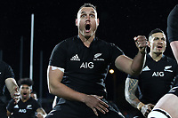 NEW PLYMOUTH, NEW ZEALAND - SEPTEMBER 09:  Israel Dagg of the All Blacks leads the haka during The Rugby Championship match between the New Zealand All Blacks and Argentina at Yarrow Stadium on September 9, 2017 in New Plymouth, New Zealand.  Photo by Phil Walter / POOL
