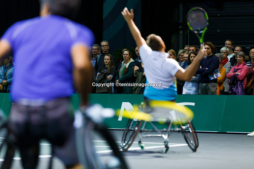 Rotterdam, The Netherlands, 14 Februari 2020, ABNAMRO World Tennis Tournament, Ahoy, <br /> Wheelchair Doubles: Stephane Houdet (FRA) and Nicolas Peifer (FRA).<br /> Photo: www.tennisimages.com