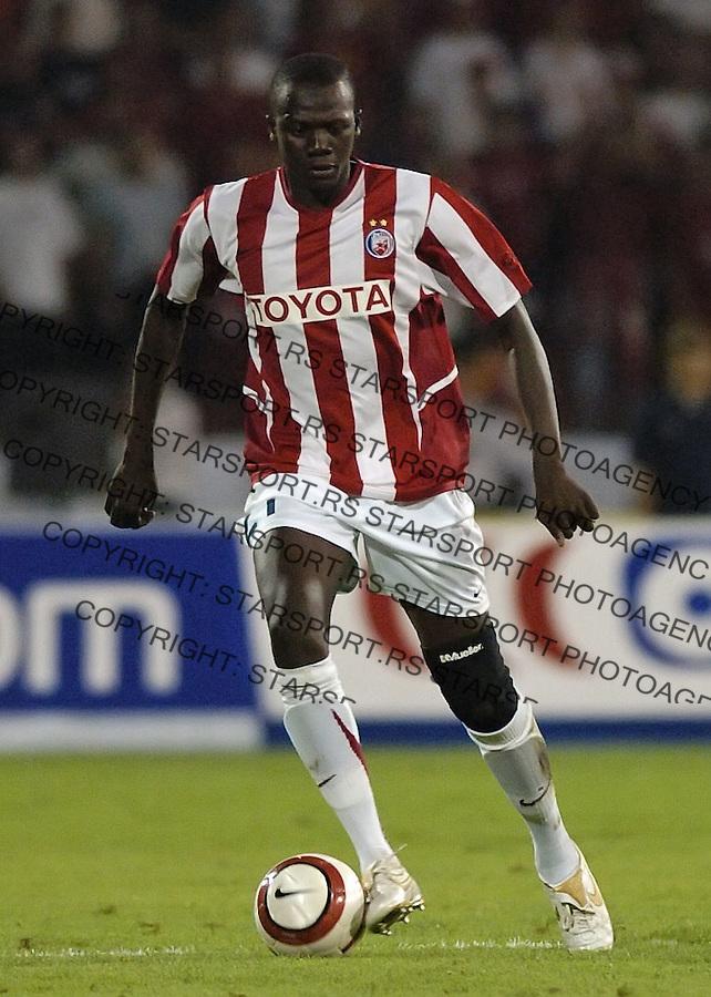 SPORT FOOTBALL SOCCER RED STAR STELLA ROSA MILAN UEFA CHAMPIONS LEAGUE QUALIFIER GAME FUDBAL MILANO Ibrahim Gaj 22.8.2006.photo: Pedja Milosavljevic<br />