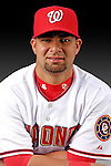 25 February 2007: Washington Nationals catcher Jesus Flores poses for his Photo Day portrait at Space Coast Stadium in Viera, Florida.<br /> <br /> Mandatory Photo Credit: Ed Wolfstein Photo<br /> <br /> Note: This image is available in a RAW (NEF) File Format - contact Photographer.