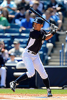 New York Yankees outfielder Ichiro Suzuki #31 during a Spring Training game against the Pittsburgh Pirates at Legends Field on March 28, 2013 in Tampa, Florida.  (Mike Janes/Four Seam Images)
