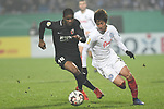 06.02.2019,  GER; DFB Pokal, Holstein Kiel vs FC Augsburg ,DFL REGULATIONS PROHIBIT ANY USE OF PHOTOGRAPHS AS IMAGE SEQUENCES AND/OR QUASI-VIDEO, im Bild Masaya Okugawa (Kiel #11) versucht sich gegen Kevin Danso (Augsburg #38) durchzusetzenFoto © nordphoto / Witke *** Local Caption ***