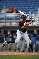 West Virginia Black Bears right fielder Ty Moore (55) at bat during a game against the Batavia Muckdogs on June 30, 2016 at Dwyer Stadium in Batavia, New York.  Batavia defeated West Virginia 4-3.  (Mike Janes/Four Seam Images)