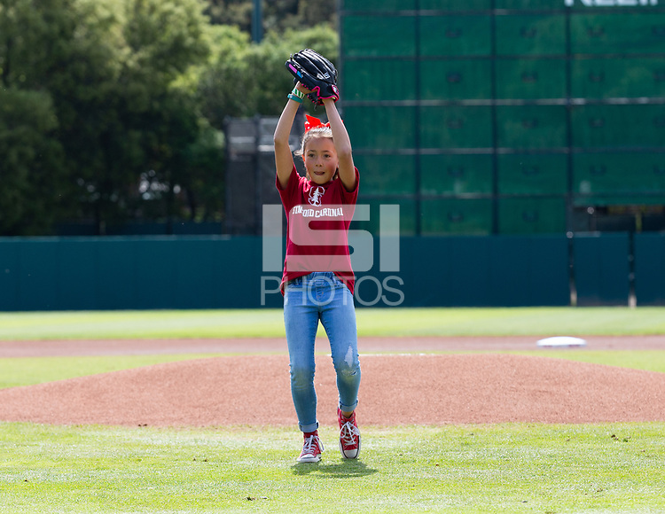 Stanford, California - March 24, 2019: Stanford Baseball defeats Utah 7-3 at Sunken Diamond in Stanford, California.