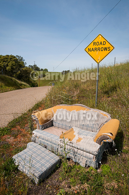 Roadside chair near Ione, Calif.