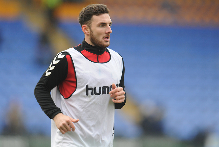 Fleetwood Town's Lewie Coyle<br /> <br /> Photographer Kevin Barnes/CameraSport<br /> <br /> The EFL Sky Bet League One - Shrewsbury Town v Fleetwood Town - Tuesday 1st January 2019 - New Meadow - Shrewsbury<br /> <br /> World Copyright © 2019 CameraSport. All rights reserved. 43 Linden Ave. Countesthorpe. Leicester. England. LE8 5PG - Tel: +44 (0) 116 277 4147 - admin@camerasport.com - www.camerasport.com