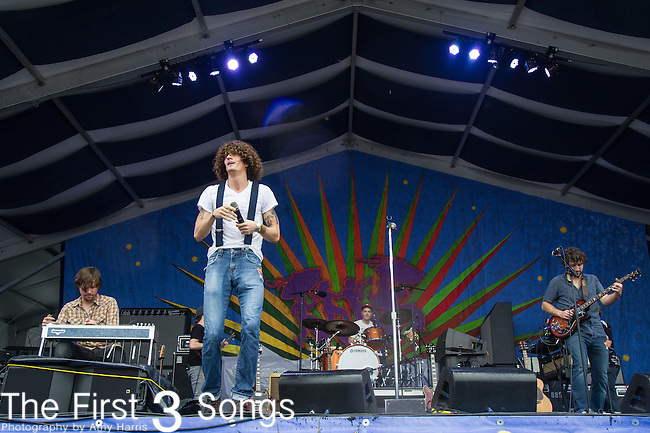 David Shaw of The Revivalists performs during the 2015 New Orleans Jazz & Heritage Festival in New Orleans, Louisiana.