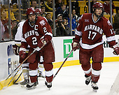 Nathan Gerbe (Boston College - Oxford, MI), Brock Bradford (Boston College - Burnaby, BC), Dylan Reese (Harvard University - Pittsburgh, PA), Tyler Magura (Harvard University - Fargo, ND) - The Boston College Eagles defeated the Harvard University Crimson 3-1 in the first round of the 2007 Beanpot Tournament on Monday, February 5, 2007, at the TD Banknorth Garden in Boston, Massachusetts.  The first Beanpot Tournament was played in December 1952 with the scheduling moved to the first two Mondays of February in its sixth year.  The tournament is played between Boston College, Boston University, Harvard University and Northeastern University with the first round matchups alternating each year.