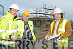 John McElligott (site manager), Sean Clifford (builder) and Maurice Hannon (Auctioneer, Hannon Auctioneers, Listowel).