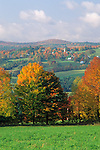 Fall view of South Peacham, Vermont, USA