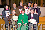 PIONEERS; Tralee pioneers who who were presented with long service pins after 7-00pm mass in St john's Church, Tralee by Spiritual  Director Fr Kieran O'Brien,  Front l-r: John Trant (Blennerville (Fr Cullen Medal for 60years), Fr Kieran O'Brien (Spirital director), and Maurice O'Connor (Fr Cullen Medal 60th year) Tralee). Back l-r: Riona Sayers (Derryquay  Silver pin 25years),John Cooke (president St John's PTAA), Roasleen Mangan (Gold pin 50years), Sheila O'Sullivan (Gold pin 50years,Tralee), Chris Griffin (on behalf of her sister in Toronto, Canda Gold Pin 50years) and Liam Fitzgerald (Tralee Gold pin 50years)...
