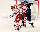 Gabriel Chabot (BU - 10), Chase Phelps (BU - 12), Adam Larkin (Yale - 2) The Boston University Terriers defeated the visiting Yale University Bulldogs 5-2 on Tuesday, December 13, 2016, at the Agganis Arena in Boston, Massachusetts.