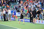 The Hague, Netherlands, June 10: Hugo Inglis #29 of New Zealand walks barefoot on the pitch  after the field hockey group match (Men - Group B) between New Zealand and The Netherlands on June 10, 2014 during the World Cup 2014 at Kyocera Stadium in The Hague, Netherlands. Final score 1-1 (0-1) (Photo by Dirk Markgraf / www.265-images.com) *** Local caption ***