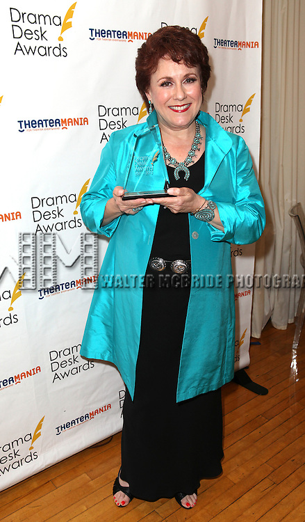 Judy Kaye.in the winners press room at the 57th Annual Drama Desk Awards held at the The Town Hall in New York City, NY on June 3, 2012.