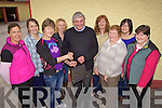The Parents Committee of Mountcollins N.S.who made a presentation to Principal Larry Begley who retired last Friday after 39 years service of teaching, l-r Samantha Heffernan, Breda Flannery, Joanie Audsley, Betty Lane, Larry Begley, Joan Hickey, Margaret Lennihan, Elaine O'Reily, Mary Barry.