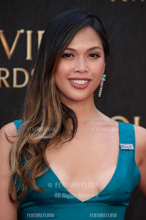 Christine Allado arriving for the Olivier Awards 2018 at the Royal Albert Hall, London, UK. <br /> 08 April  2018<br /> Picture: Steve Vas/Featureflash/SilverHub 0208 004 5359 sales@silverhubmedia.com