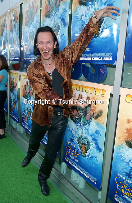 """Steve Valentine arriving at the premiere """" Crocodile Hunter: Collision Course """" at the Arclight Theatre in Los Angeles. June 29, 2002."""
