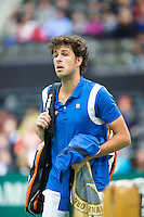 12-02-13, Tennis, Rotterdam, ABNAMROWTT, Robin Haase after loss against Ernests Gulbis