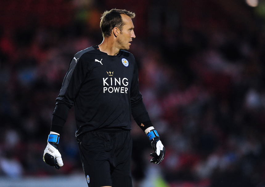Leicester City&rsquo;s Mark Schwarzer<br /> <br /> Photographer Chris Vaughan/CameraSport<br /> <br /> Football - Football Friendly - Lincoln City v Leicester City - Tuesday 21st July 2015 - Sincil Bank - Lincoln<br /> <br /> &copy; CameraSport - 43 Linden Ave. Countesthorpe. Leicester. England. LE8 5PG - Tel: +44 (0) 116 277 4147 - admin@camerasport.com - www.camerasport.com