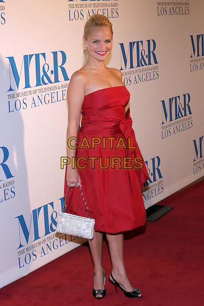 KRISTIN CHENOWETH.The Museum of Television & Radio Honors Peter Chernin and John Wells At its Annual Los Angeles Gala held at the Beverly Hilton Hotel, Beverly Hills, California.  .November 7th, 2005.Photo: Zach Lipp/AdMedia/Capital Pictures.Ref: Zl/ADM.full length strapless red dress jewel encrusted purse bag.www.capitalpictures.com.sales@capitalpictures.com.© Capital Pictures.