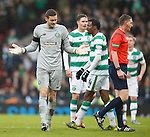 Craig Gordon can't believe that Efe Ambrose has been sent off