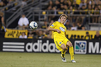 29 MAY 2010:  Brian Carroll of the Columbus Crew (16) during MLS soccer game between LA Galaxy vs Columbus Crew at Crew Stadium in Columbus, Ohio on May 29, 2010. Galaxy defeated the Crew 2-0.