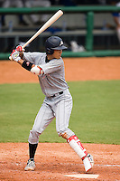 19 August 2007: Shortstop #61 Hayato Sakamoto is seen at bat during the Japan 4-3 victory over France in the Good Luck Beijing International baseball tournament (olympic test event) at the Wukesong Baseball Field in Beijing, China.