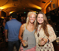Cassy Dittmer and Alison Meagher-Manson attend the Ludlows Jelly Shots Cocktail Crawl at Mas Malo on August 27, 2014.