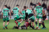 Action from the 2018 Mitre 10 Cup Round 4 rugby match between Canterbury and Manawatu at Christchurch Stadium in Christchurch, New Zealand on Thursday, 6th September 2018. Photo: Martin Hunter/ lintottphoto.co.nz