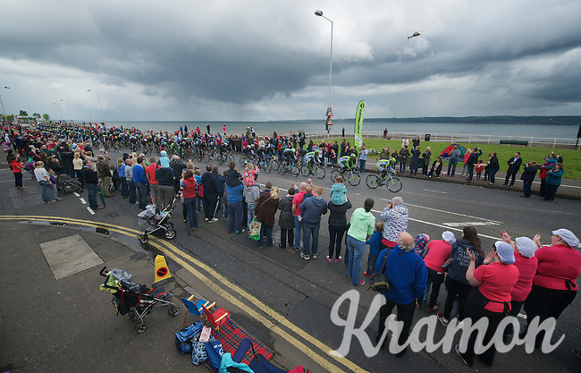 Despite the weather massive crowds came out to great the Giro-peloton<br /> <br /> Giro d'Italia 2014<br /> stage 2: Belfast-Belfast <br /> 219km