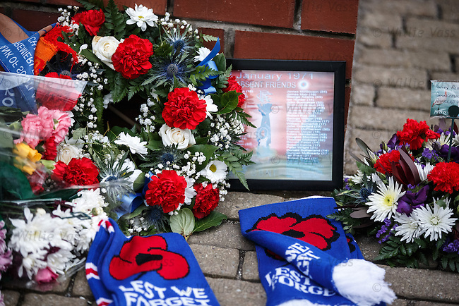 Memorial to the 66 fans who never returned from Ibrox in 1971