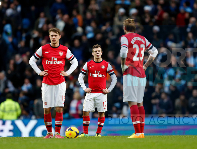 Arsenal's Jack Wilshere looks on dejected after going 6-3 down<br /> <br /> Manchester City vs Arsenal - Premier League  - Etihad Stadium  - Manchester - England - 14/12/2013  - Pic David Klein/Sportimage